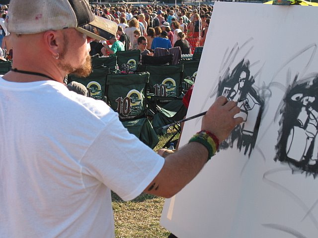 Painting at 10K Lakes 2006