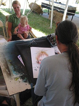 Sketching a Toddler at 10K Lakes 2006