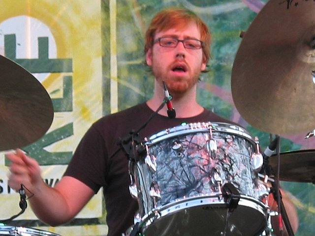 Joe Russo with Trey Anastasio at 10K Lakes Festival