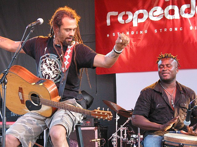 Michael Franti Performs on the Ropeadope Stage