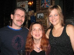 The Killdares' Roberta Rast hangs out with fans.