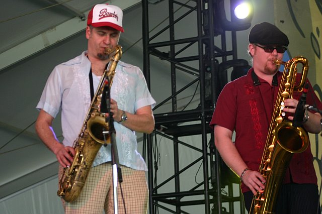 The Dap-Kings' Horn Section - Neal Sugarman and Ian Hendrickson