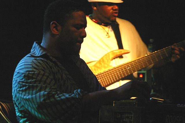 Roosevelt Collier and Alvin Cordy, Jr. at The Garage Bar