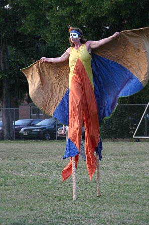 Stilt Walker at String Cheese Incident's Gainesville, FL Concert - October 21, 2006