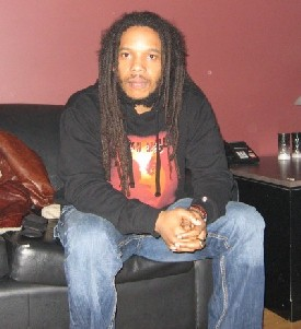 Stephen Marley Relaxes Before a Show in Vancouver