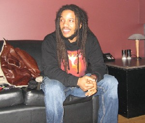 Stephen Marley Backstage in Vancouver