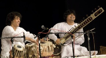 Zakir Hussain with Niladri Kumar: Publicity Photo