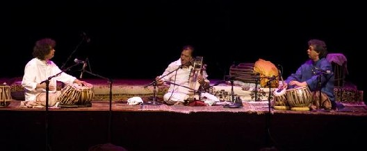 Zakir Hussain, Ustad Sultan Khan, and Fazal Qureshi: Publicity Photo